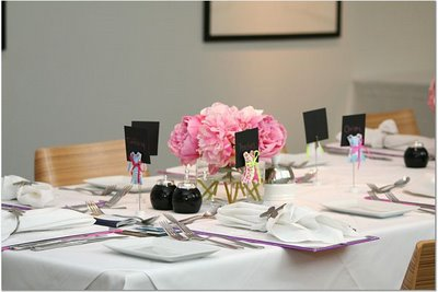 pink-white-hydrangea and peony centerpieces