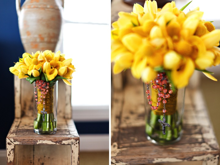 billy balls and tulips yellow bouquet
