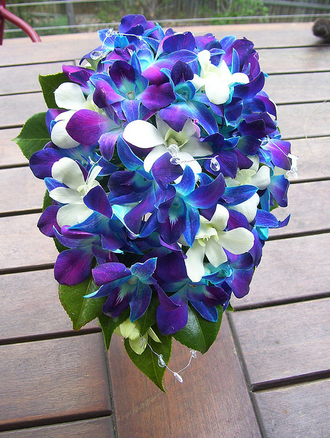 Pink blue purple and green archives bouquet wedding flower blue orchid bouquets mightylinksfo