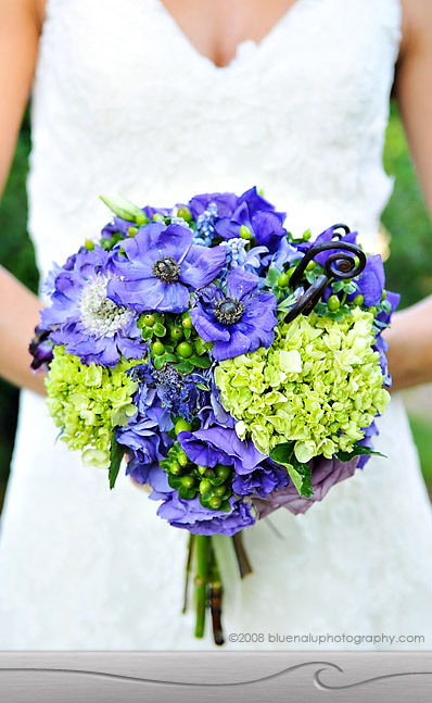 blue green bouquet