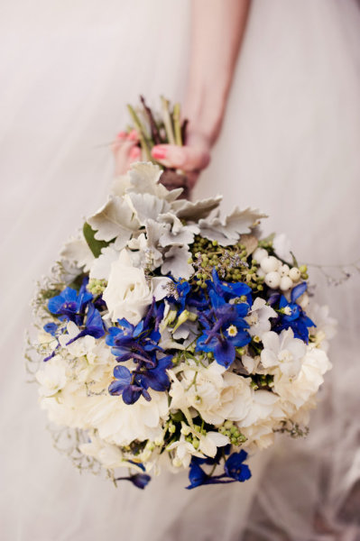 Pink Blue And White Wedding Bouquets : Bouquets in blue white pink bouquet wedding flower
