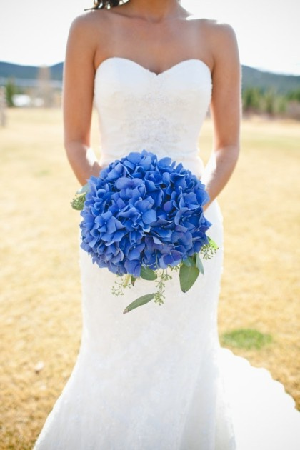 blue hydrangeas bouquet