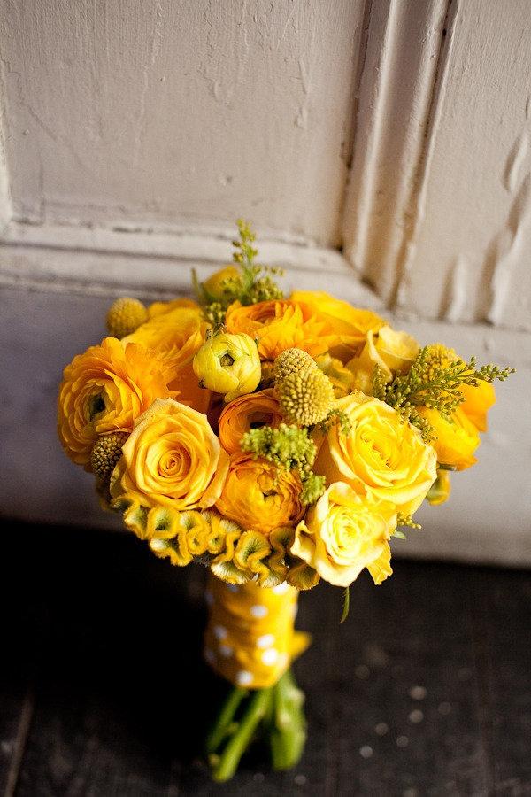 bright yellow bridal boqsuet