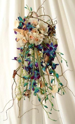 blue and white beach bouquet
