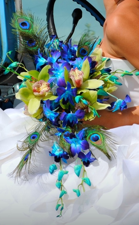 wedding cascade bouquets