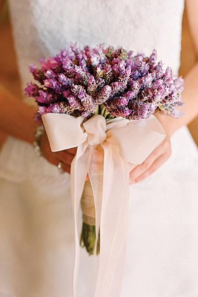 lavender herb wedding bouquet