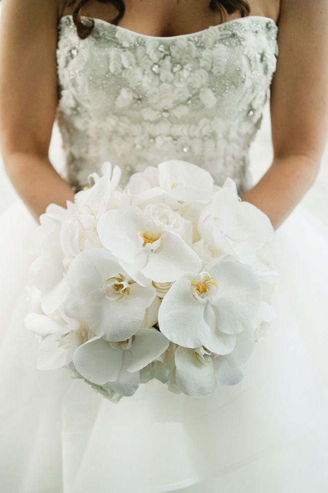 Elegant White Bridal Bouquet : White phalaenopsis orchids bouquet wedding flower