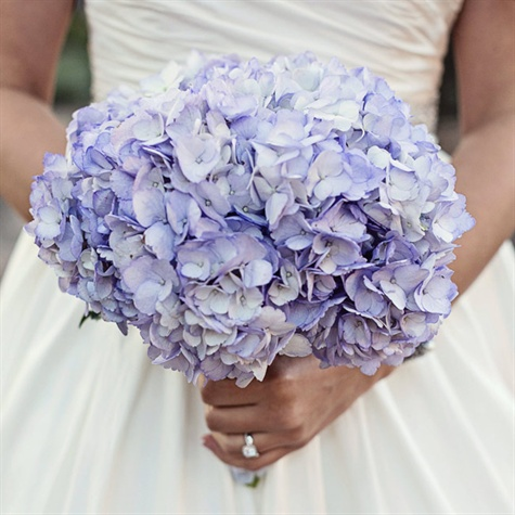 Purple Hydrangea Bridal Bouquet