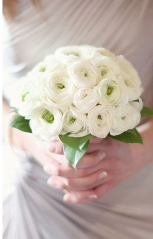 ranunculus_white wedding bouaquet