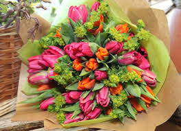 rusti rose and tulips for motehrs day