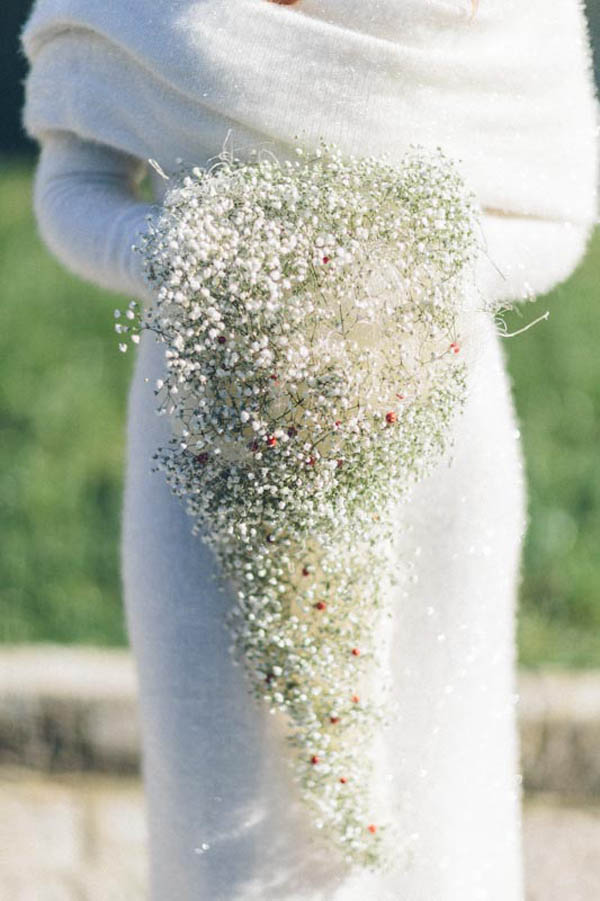 Baby's Breath Winter Bridal Bouquet