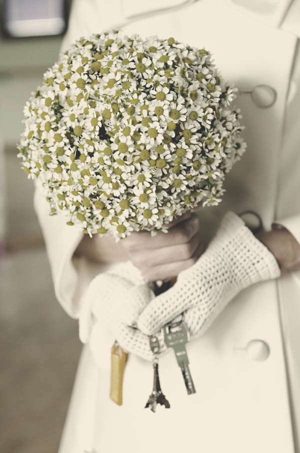 Chamomile Flowers Bridal Bouquet