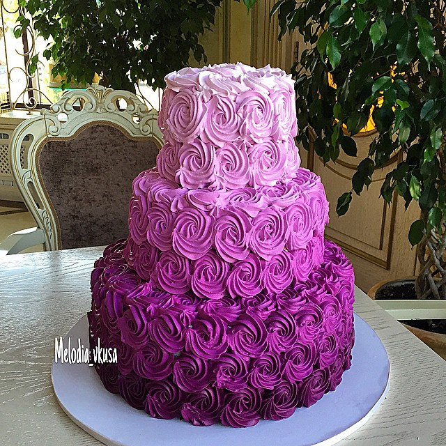 Purple And Gold Cake Designs