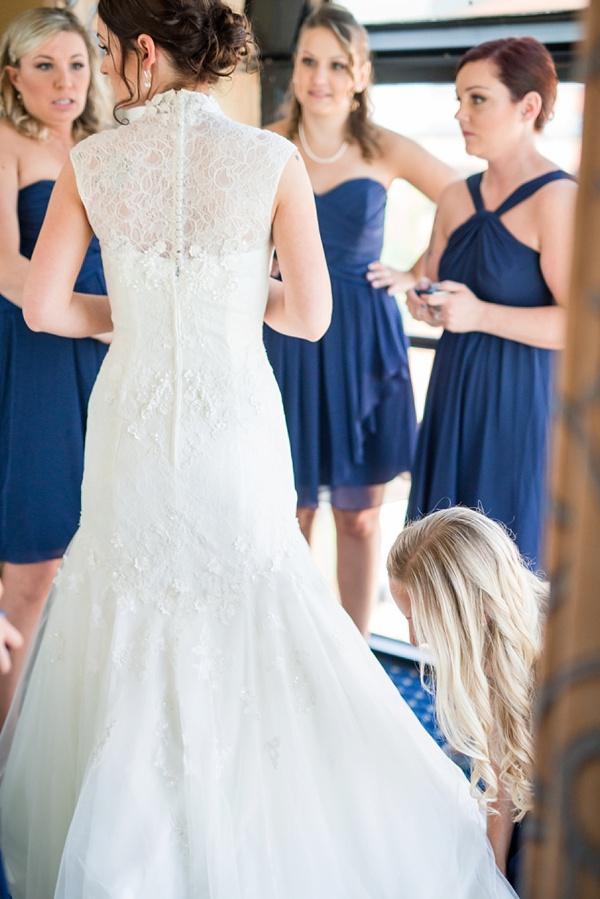 Halter Neck, Below the Knee Bridesmaids Dresses 1