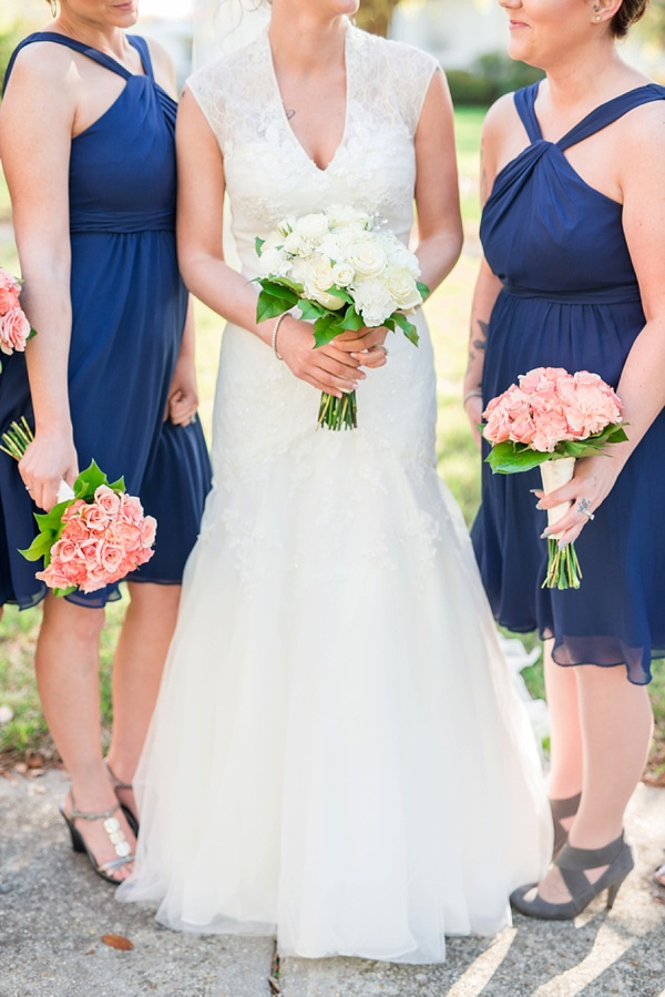 Halter Neck, Below the Knee Bridesmaids Dresses