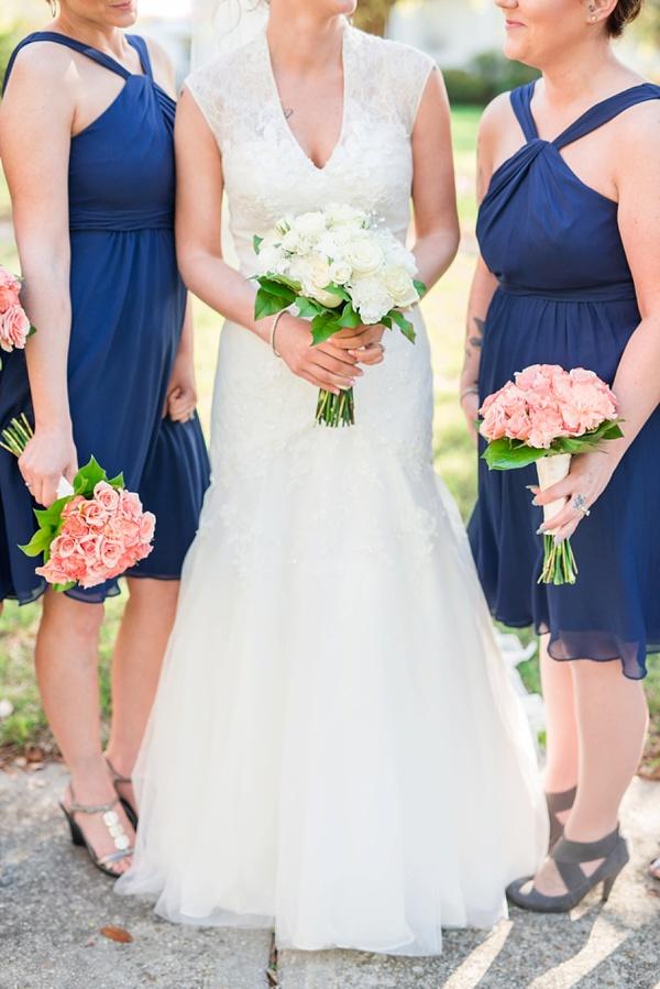 Halter Neck, Below the Knee Bridesmaids Dresses