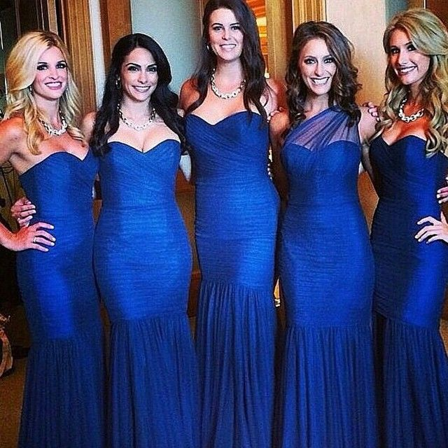 Long Cobalt Blue Bridesmaid Dresses