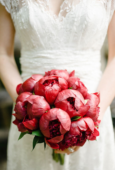 Red Peonies Bouquet