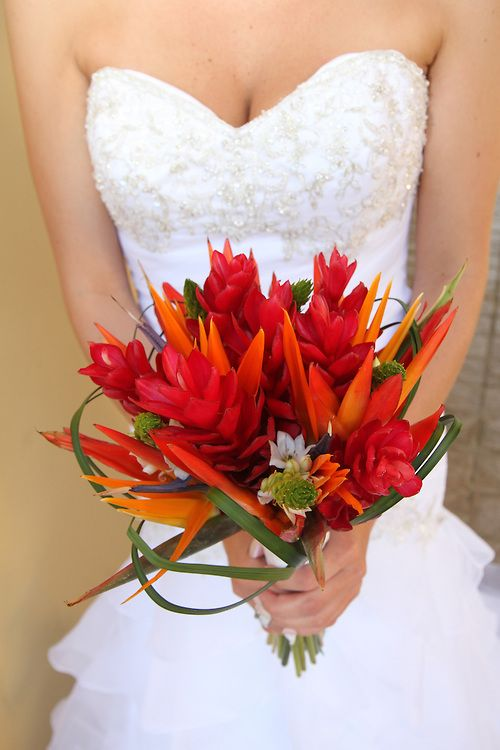 Bird of paradise archives bouquet wedding flower red ginger and bird of paradise mightylinksfo