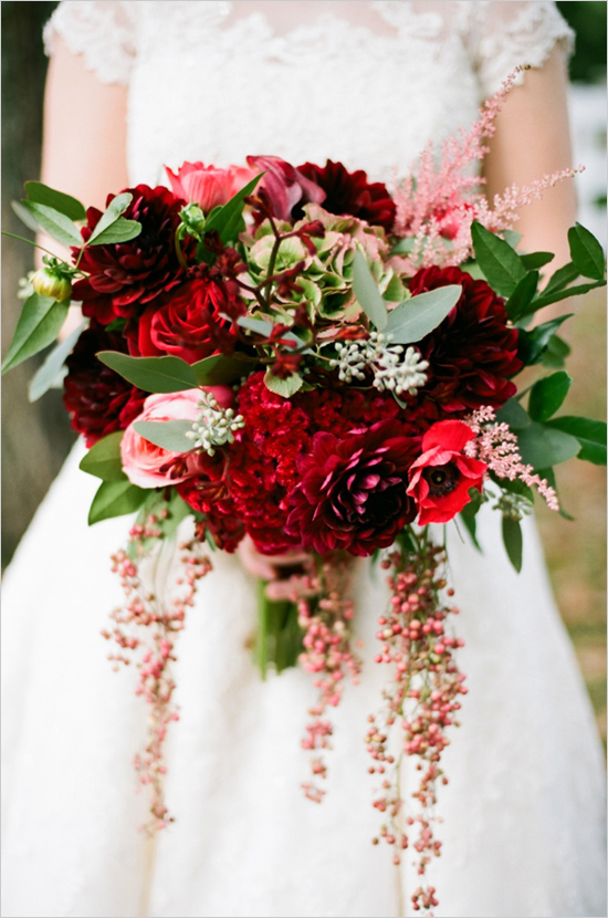 Romantic Red Bridal Bouquet