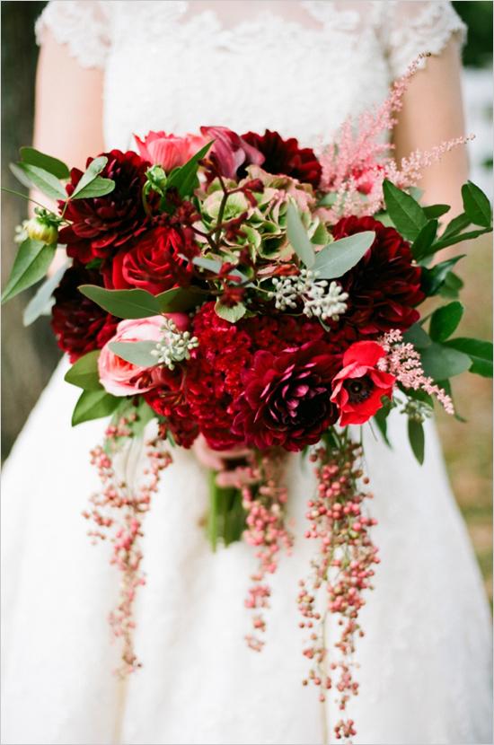 Romantic Red Bridal Bouquet