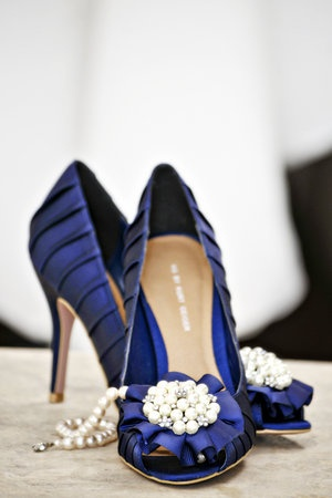 Something blue - wedding heels
