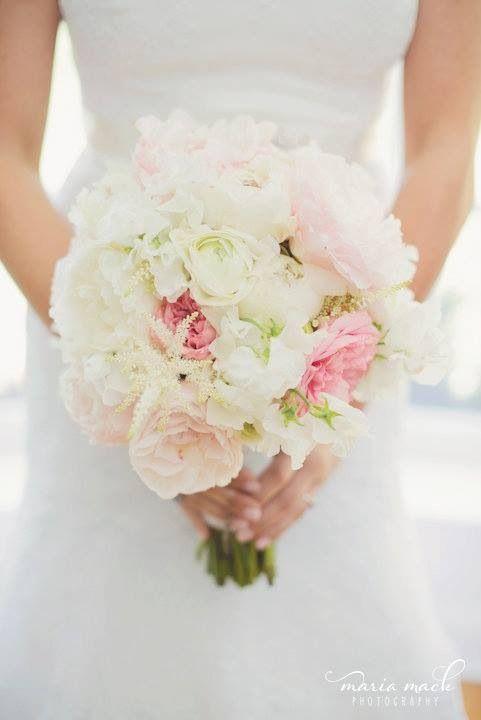 Spring bouquet peonies garden roses sweetpeas anemones