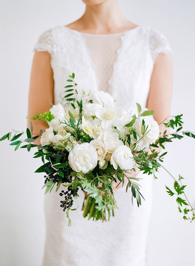 White Fl Wedding Bouquet