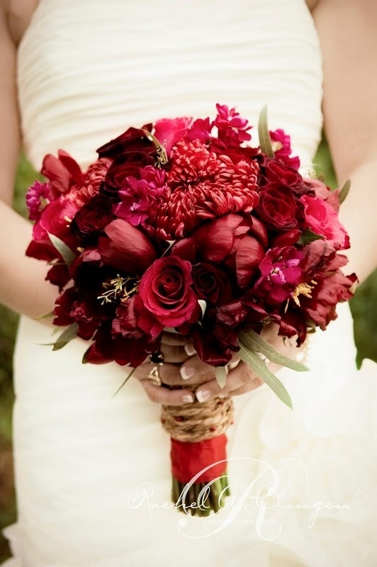 Wine Colored Bridal Bouquets