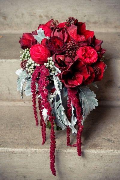 Wine Colored Bridal Bouquets 2