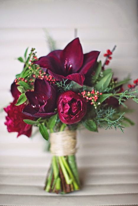 Single And Loving It: Wine Colored Bridal Bouquets