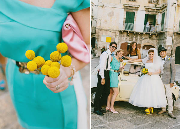 bridesmaids turquoise dress and billy balls