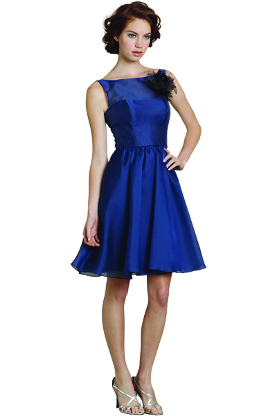 cobalt blue bridesmaid Dress by Jim Hjelm Occasions