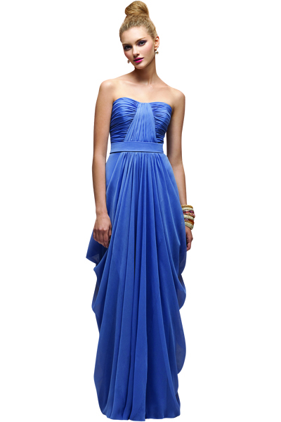 cobalt blue bridesmaid Dress by Lela Rose.
