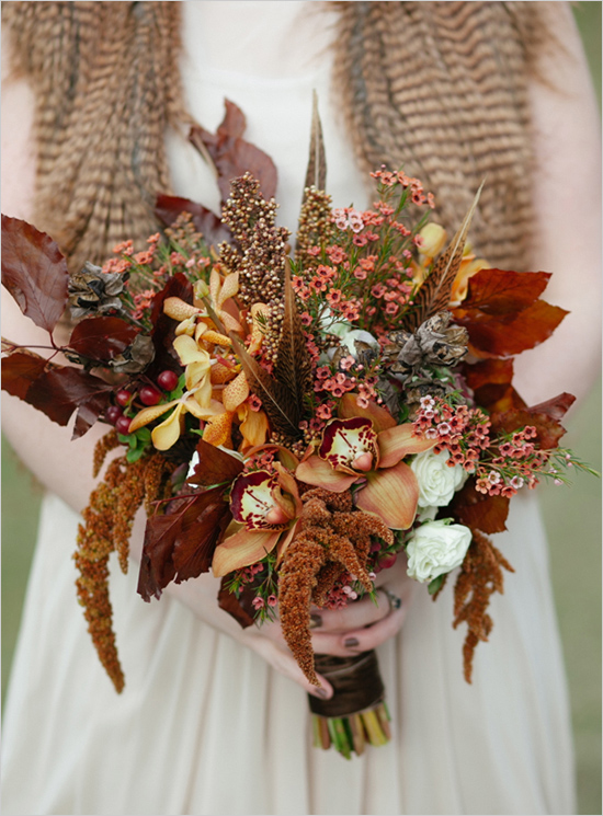 Fall Inspired Red Bouquet