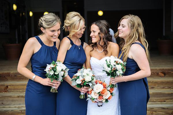 long navy blue bridespmaid dresses 1