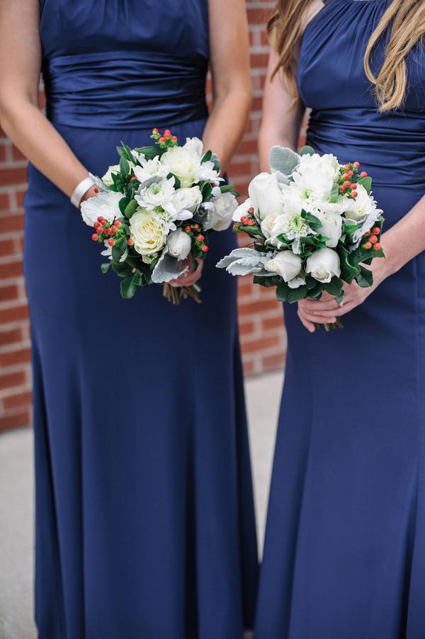 Long Navy Blue Bridesmaids Dresses