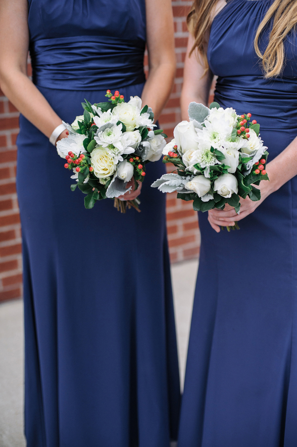 Navy Blue And White Wedding Bouquets : Wedding bouquets navy blue dresses short