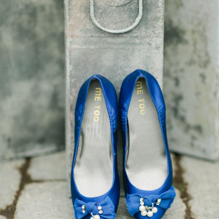 Blue Satin Shoes for the Bride