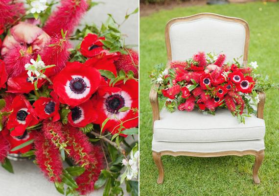 red bottle brish bridal bouquet 1q