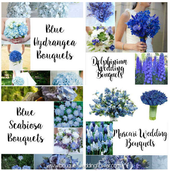 Blue Flowers For A Wedding