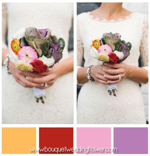 Simple colorful bouquet