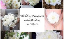 Wedding Bouquets with Dahlias in White
