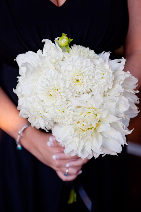 Wedding Bouquets with Dahlias in White bridesmaids