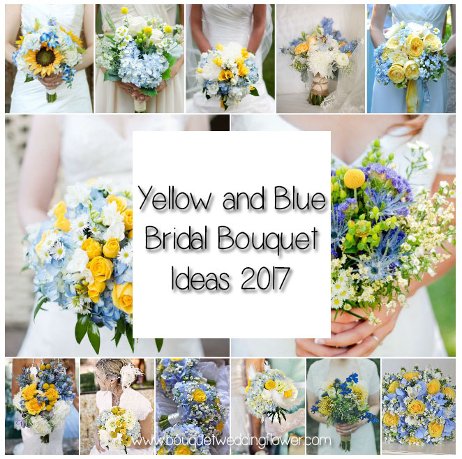Yellow archives bouquet wedding flower 18 yellow and blue bridal bouquet ideas for 2017 you cant get enough of mightylinksfo