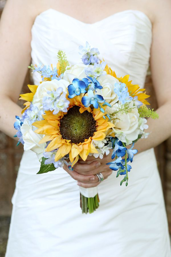 Sunflower And Rose Bouquet Prom