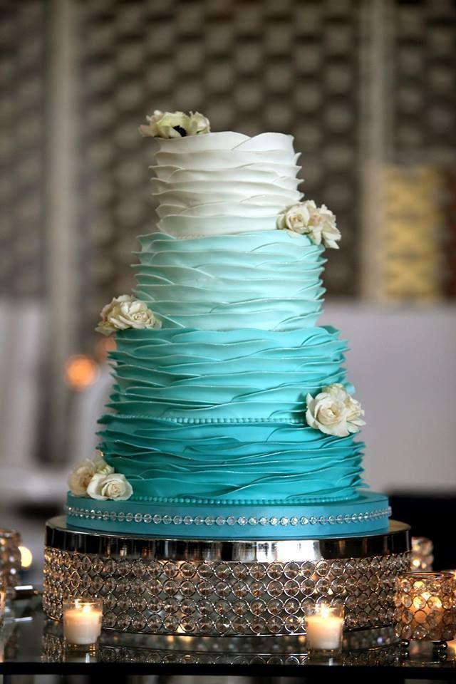 wedding cakes with teal flowers more than 20 teal ombre wedding cake ideas bouquet 26128