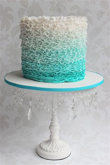 ruffle wedding cake designs
